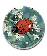 CounterArt Absorbent Stoneware Car Coaster, Lady Bug  - $9.99
