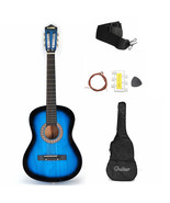 Beginner Acoustic Guitar with Case, Strap, Tuner, Pick, Strings 38 Inch ... - $71.53+