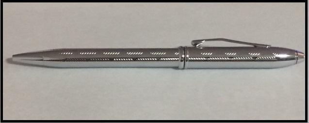 Cross Townsend Chrome Herringbone Ballpoint Pen