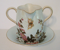 Antique Royal Worcester Creamer and Underplate 1800s - $110.00