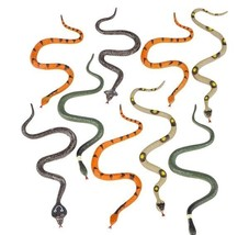 1 Pack Of 12 Plastic 6 Inch Fake Snakes New Gag Gift Joke Toy - $7.98