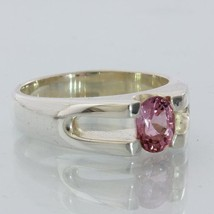 Purplish Pink Spinel Handmade Sterling Silver Unisex Ladies Gents Ring size 9 - £80.19 GBP