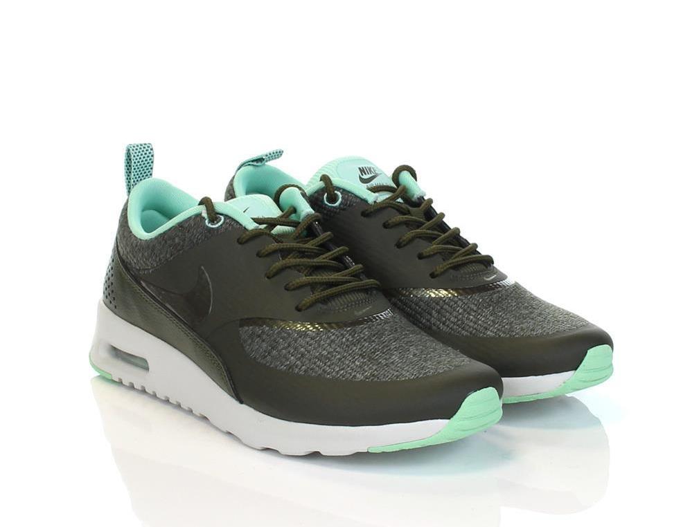 Nike Air Max Thea Trainers In Premium Grey Nubuck