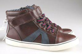 0Cat & Jack Bébé Garçons' Marron Ed Baskets Mi Haut Chaussures 12 US Nwt image 5