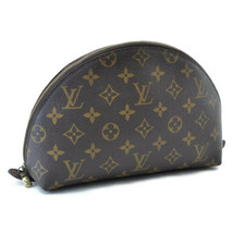 LOUIS VUITTON Monogram Trousse Demi Ronde Pouch Bag M47520 LV Auth 8427 - $240.00