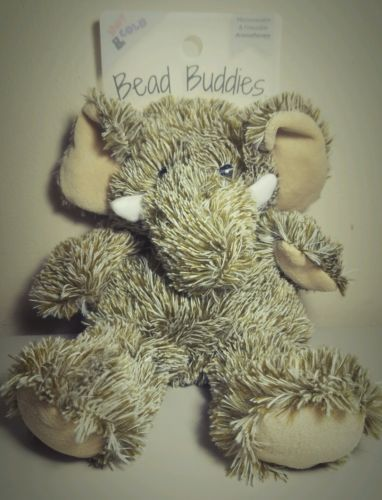 BEAD BUDDIES! ADORABLE ELEPHANT HOT COLD AROMATHERAPY BEAD BUDDIE SUPER SOFT NWT