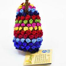 Handknit Alpaca Wool Whimsical Hanging Porcupine Ornament Handmade in Peru image 3