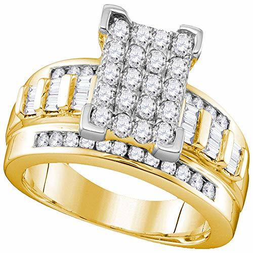 Primary image for The Diamond Deal 10k Yellow Gold Diamond Cindy's Dream Cluster Bridal Wedding En