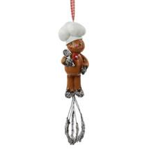 "8"" Gingerbread Kisses Sprinkled Cookie Man Whisk Christmas Ornament - $27.95"