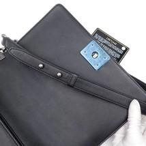 AUTHENTIC CHANEL BLACK Limited Edition Embroidery Leaf Medium Boy Flap Bag image 9
