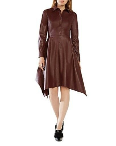 BCBG Beatryce Faux Leather Dress, Size XXS, NWT