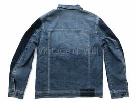 Onitsuka Tiger x Pompilio Mens XL Blue Denim Jean Quilted Trucker Jacket... - $160.55