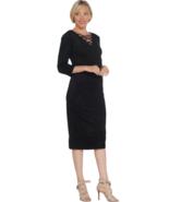 G.I.L.I. Small Faux Suede Lace-up Dress Noir Black S - $23.09