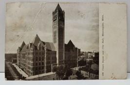Minneapolis Minnesota Courthouse and City Hall Photo c1908 Postcard B12 - $5.95