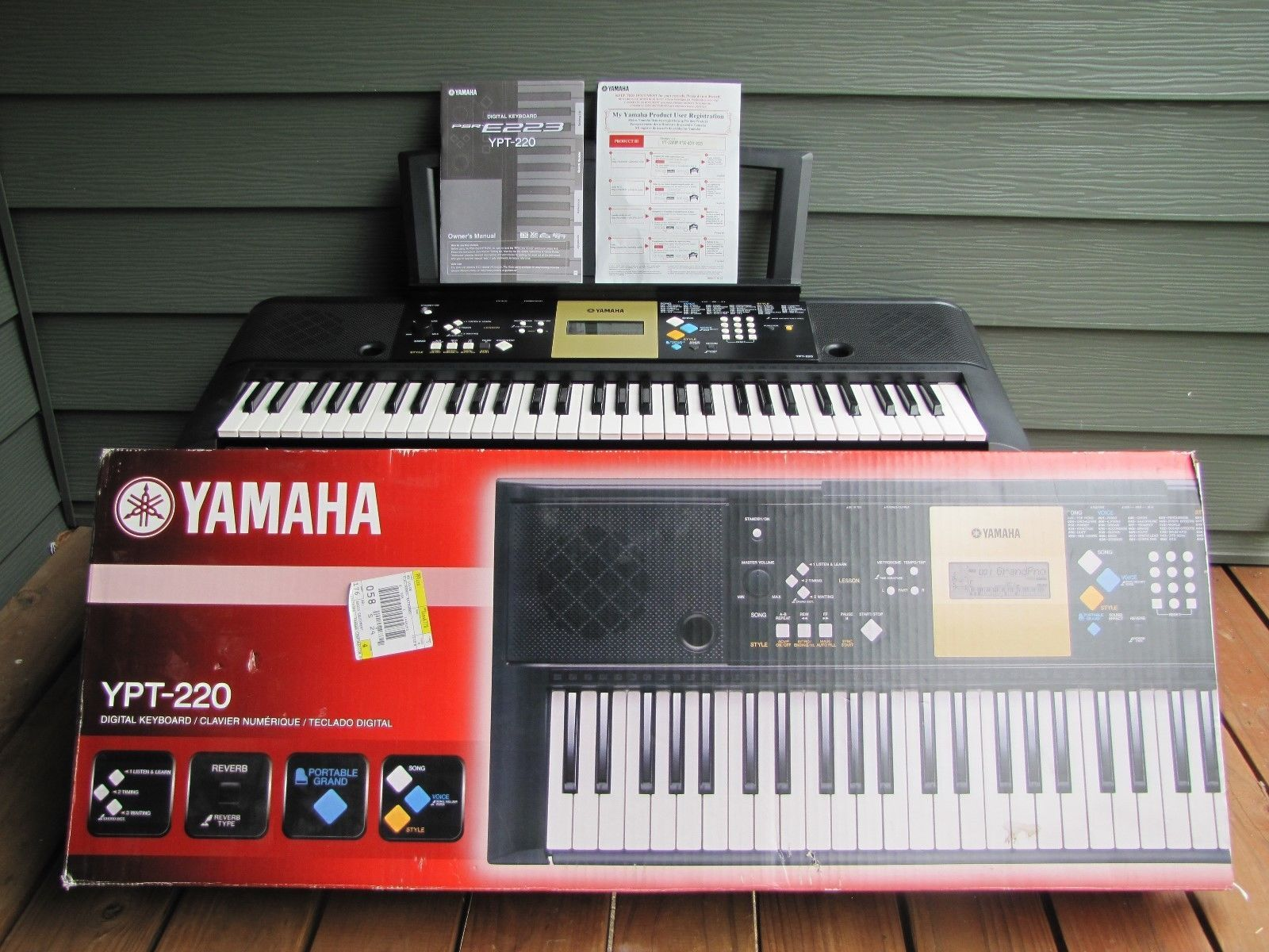 yamaha electronic keyboard model ypt 220 iob and 50 similar items rh bonanza com Manual Guide Service Manuals