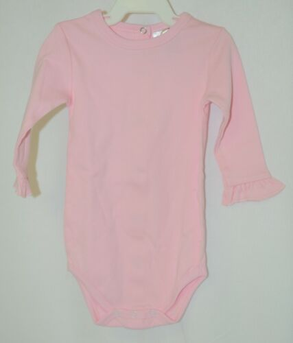 Blanks Boutique Pink Long Sleeve With Ruffle Bodysuit 6 To 9 Months