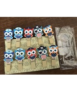 30pcs Owl Wood Clips,Paper Clips,Pin Clothespin,Birthday Decoration,Part... - $7.20