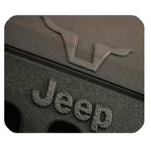 Mouse Pad Jeep Logo Sports Car Transportation Animation With Grey Design Game - $9.00
