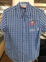 "Maxine Hallmark Women's Blue Plaid Button Shirt ""Dont Worry, Be Crabby!""... - $14.50"