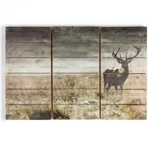 24 In. X 35 In. 'Highland Stag' Wooden Wall Art - $126.99
