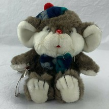"Vintage 1987 Commonwealth Lil' Tweaks The Christmas Mouse 8"" Plush Stuff... - $24.75"