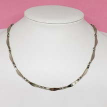 """Vintage Signed FREIRICH Silver Tone Chain Link Necklace 16"""" Long - $9.99"""