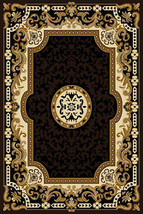 KING Traditional Oriental Floral 5X8 5x7 Rug 2034 Black - $69.00