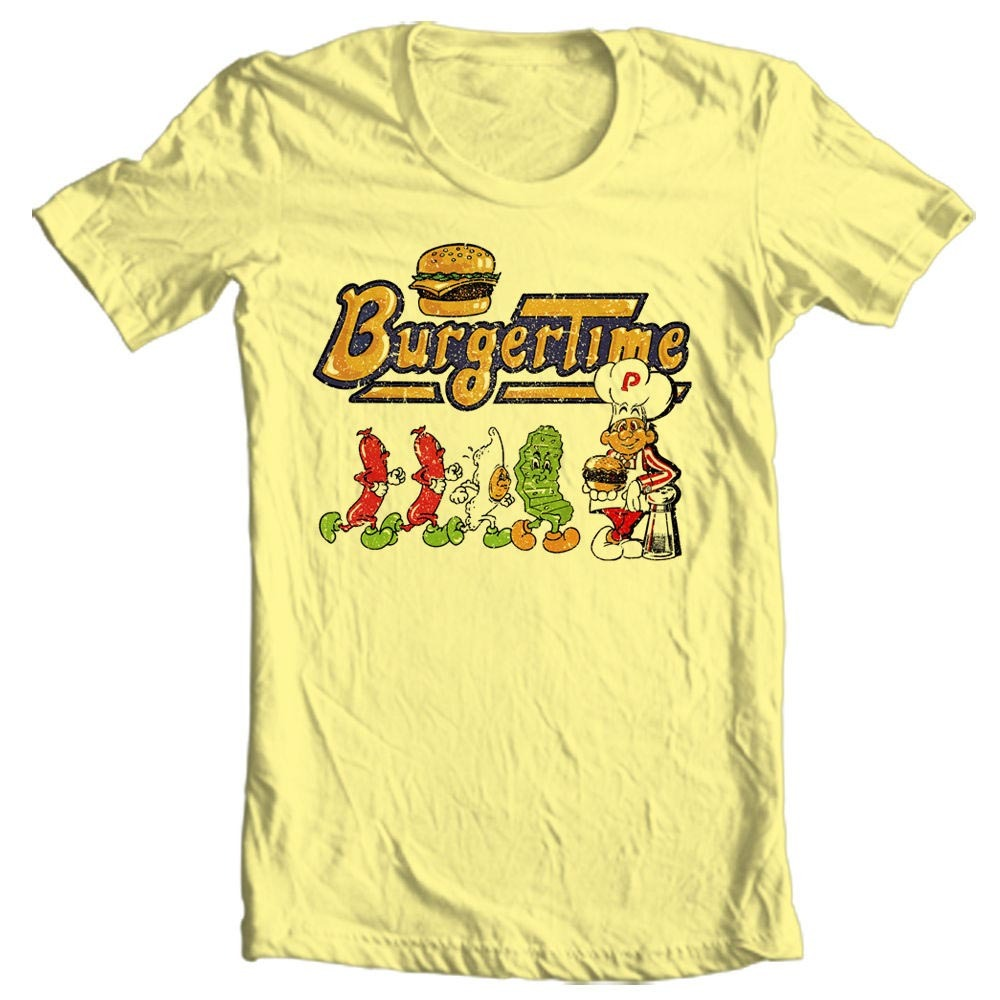 Burger time retro 80s arcade tshirt vinatge sale online graphic tee store shop buy online