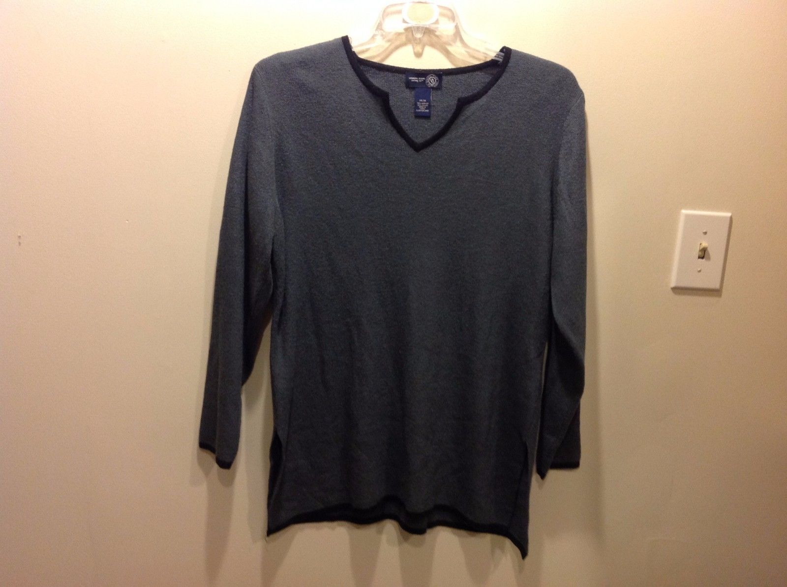 Dark Gray Long Sleeve Shirt Sweater by Venezia Jeans Sz 14 16