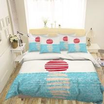 3D Red Sun Painted 20 Bed Pillowcases Quilt Duvet Single Queen King US Summer - $102.84+