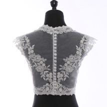 Illusion Neckline Lace Tank Tops Sleeveless Embroidery Lace Bridesmaid Tank Tops image 8