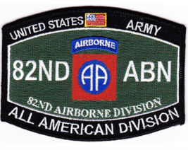 "4.5"" Army Mos 82ND Airborne Division All American Ega Embroidered Patch - $16.24"