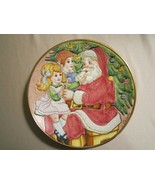 A VISIT TO SANTA collector plate VENETO FLAIR 1982 Christmas Children - $39.99