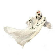 Hanging Ghost with Chain Light Up Eyes Sound and Sensor Scary Halloween ... - €17,90 EUR