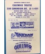 TARZAN John Wayne THE 3 WORLDS OF GULLIVER 1960 handout Edgewood theatre... - $12.86