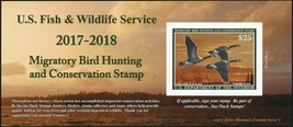 RW84A, 2018 Canada Geese Federal Duck Stamp Self-Adhesive Pane - Stuart ... - $39.95