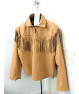 Men New Native American Mountain Man Fringes Tan Goat Leather Shirt GL142 - $78.21+