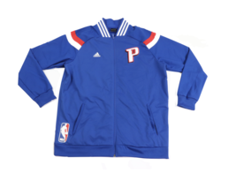 New Adidas NBA Authentics Detroit Pistons Team Issued On Court Jacket La... - $98.95