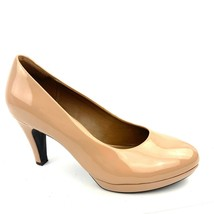 CLARKS Collection 'Brier Dolly' Nude Patent PU Platform Classic Pumps Size 8.5 M - $21.77