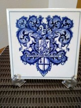 "Vintage 3 Blue Delft Holland Tiles Handmade  Pharmacy School Tiles  5.75"" x 5.75 image 3"