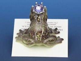 Birthstone Frog Prince Kissing June Alexandrite Miniatures by Hagen-Renaker image 4