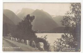 Loen Nordfjord Norway RPPC Real Photo 1909c postcard - $6.44