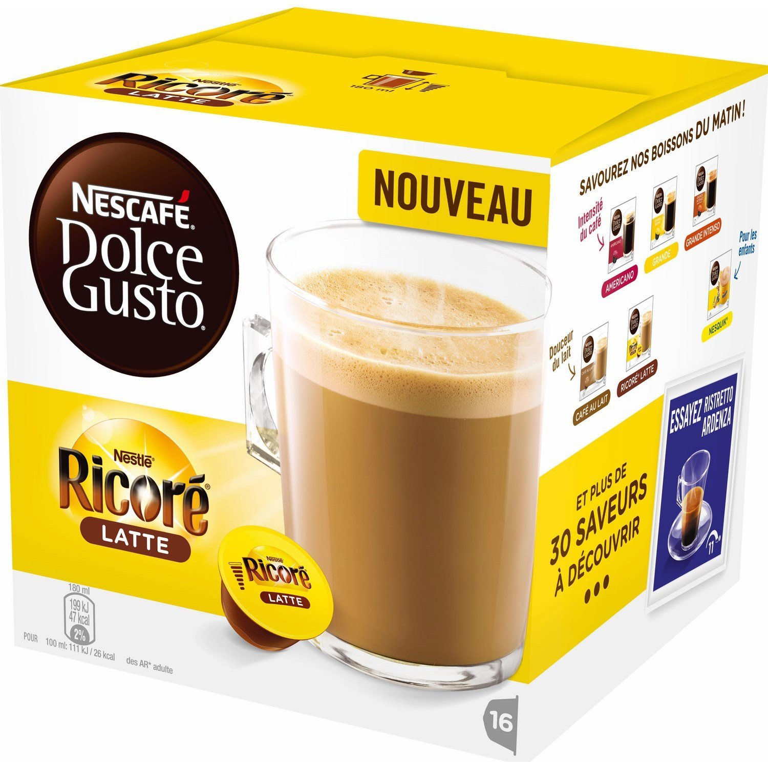 Nescafe Dolce Gusto Ricore Latte - 16 Capsules - Other