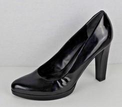 Nine West Jennet women's shoes leather upper heels black size 9M - $20.29