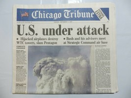 Chicago Tribune 2001 September 11 Terrorist Attack 9/11 America Saw Evil CB - $39.99