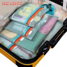 Thick Mesh Travel Toiletry Storage Bag Pouches 4 Piece Set - $12.99+