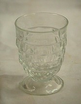 Vintage 9 oz. Tumbler Whitehall Clear by Colony Flare Pattern Cube Desig... - $12.86