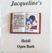DOLLHOUSE Heidi 4992 Jacqueline's Open Book Miniature  - $4.46