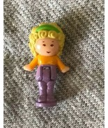 1990 POLLY POCKET POLLY'S HAIR SALON Replacement Doll Purple Pants Mail ... - $12.86