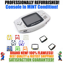 *NEW SCREEN* Nintendo Game Boy Advance GBA Silver System CUSTOM MINT NEW - $54.40+